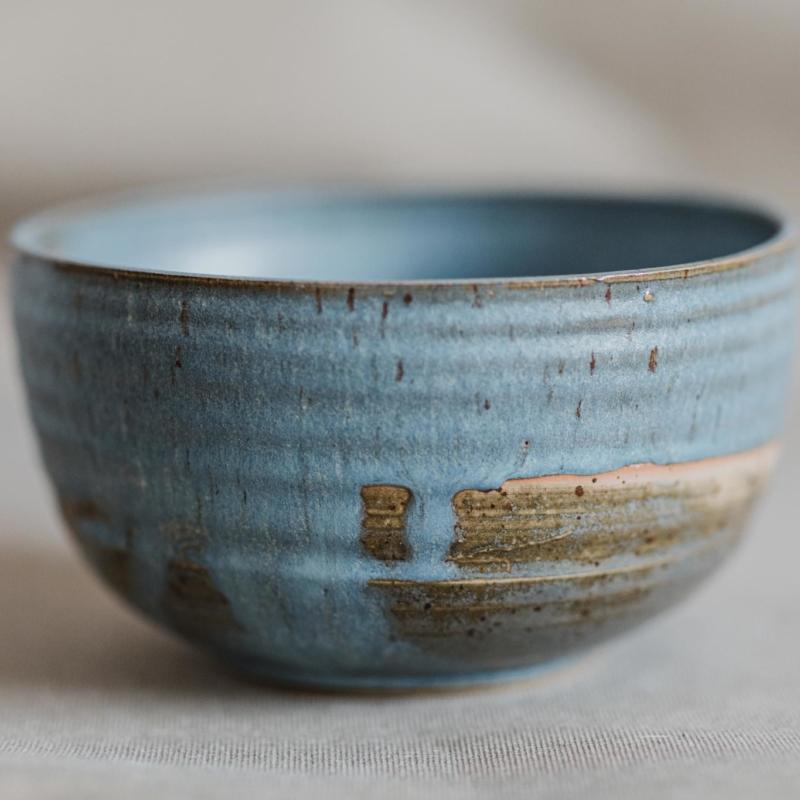 02 dining ritual vessel 2 keramik ton blau handgefertigt brsg