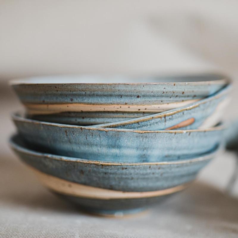 03 dining ritual vessel 1 keramik ton blau handgefertigt brsg