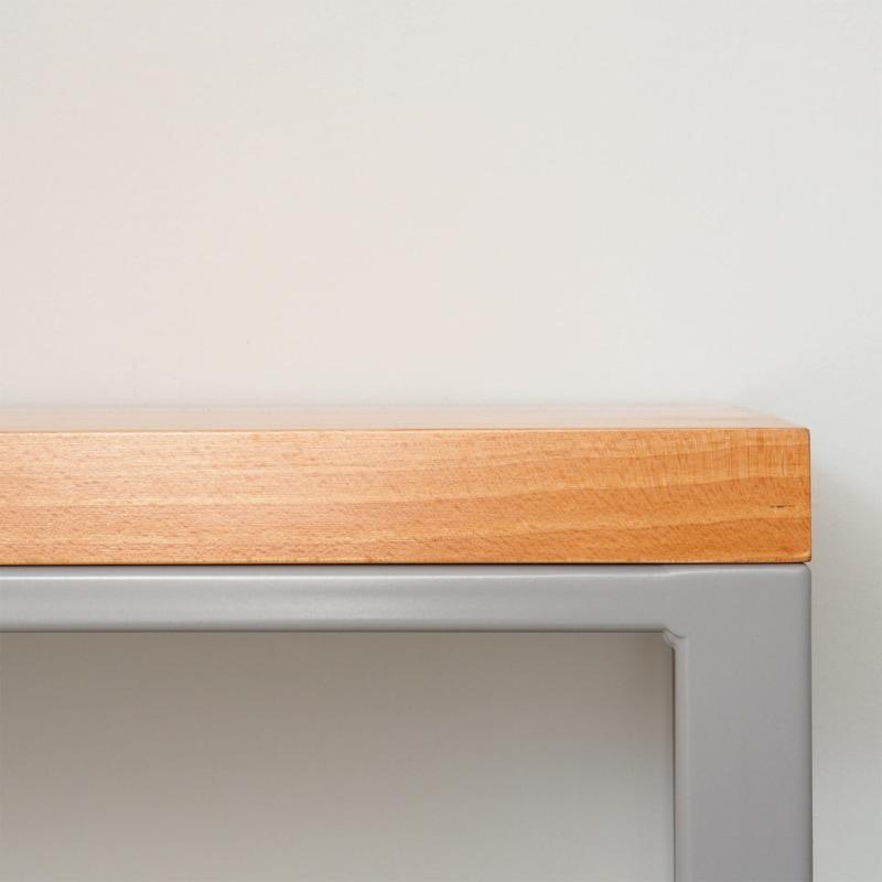 03 maastricht beech tisch esstisch buche holz stahl platingrau grau johanenlies