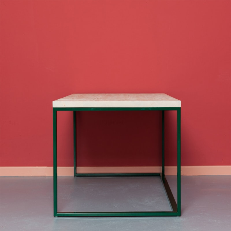 03 maastricht desk tisch schreibtisch bauholz holz stahl deepgreen gruen johanenlies