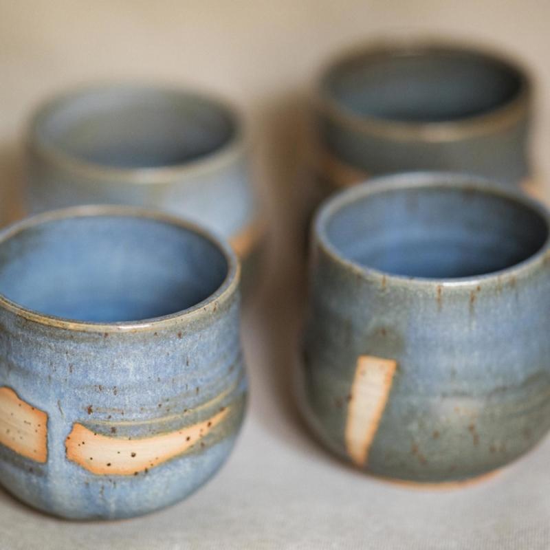 04 cacao ceremony vessel keramik ton blau handgefertigt brsg