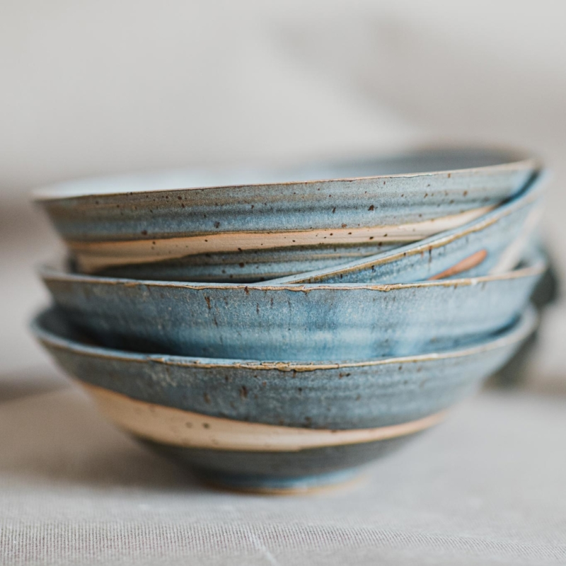 04 dining ritual vessel 1 keramik ton blau handgefertigt brsg