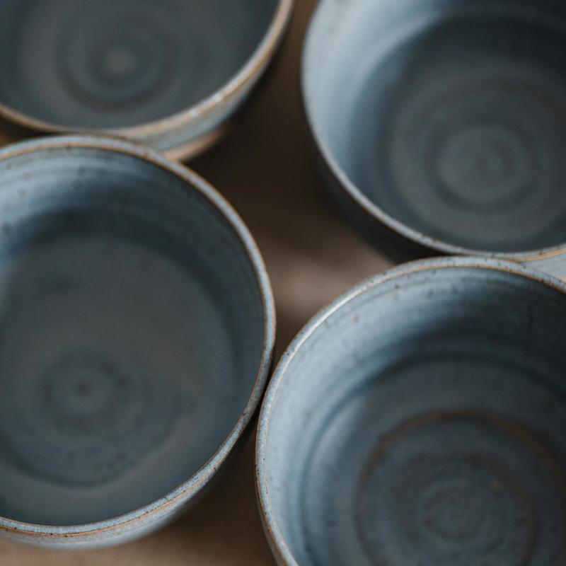 04 dining ritual vessel 2 keramik ton blau handgefertigt brsg