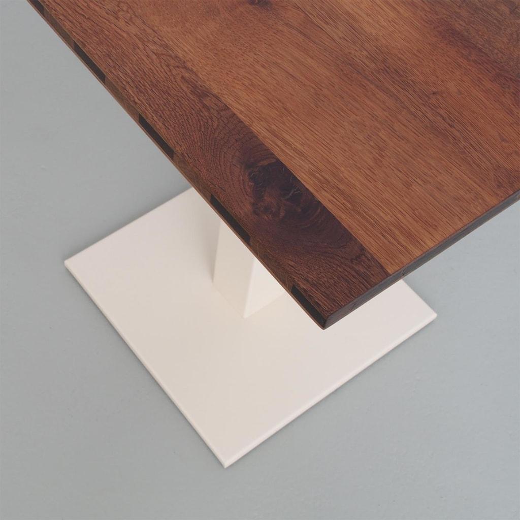 04 louis coffeetable bistrotisch tisch stehtisch eiche braun stahl hellelfenbein elfenbein johanenlies