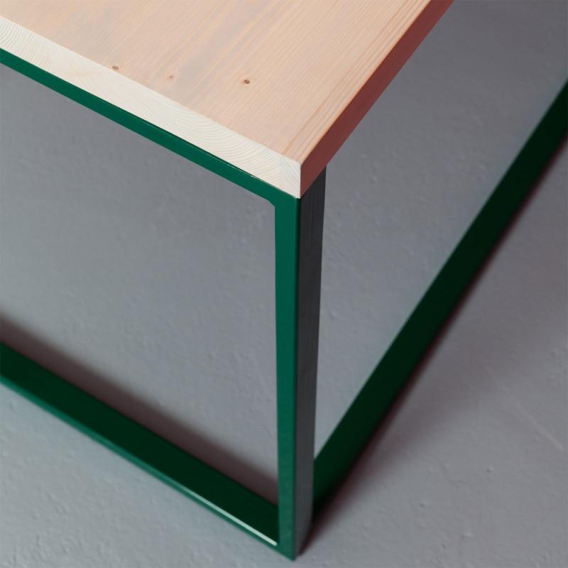 04 maastricht desk tisch schreibtisch bauholz holz stahl deepgreen gruen johanenlies