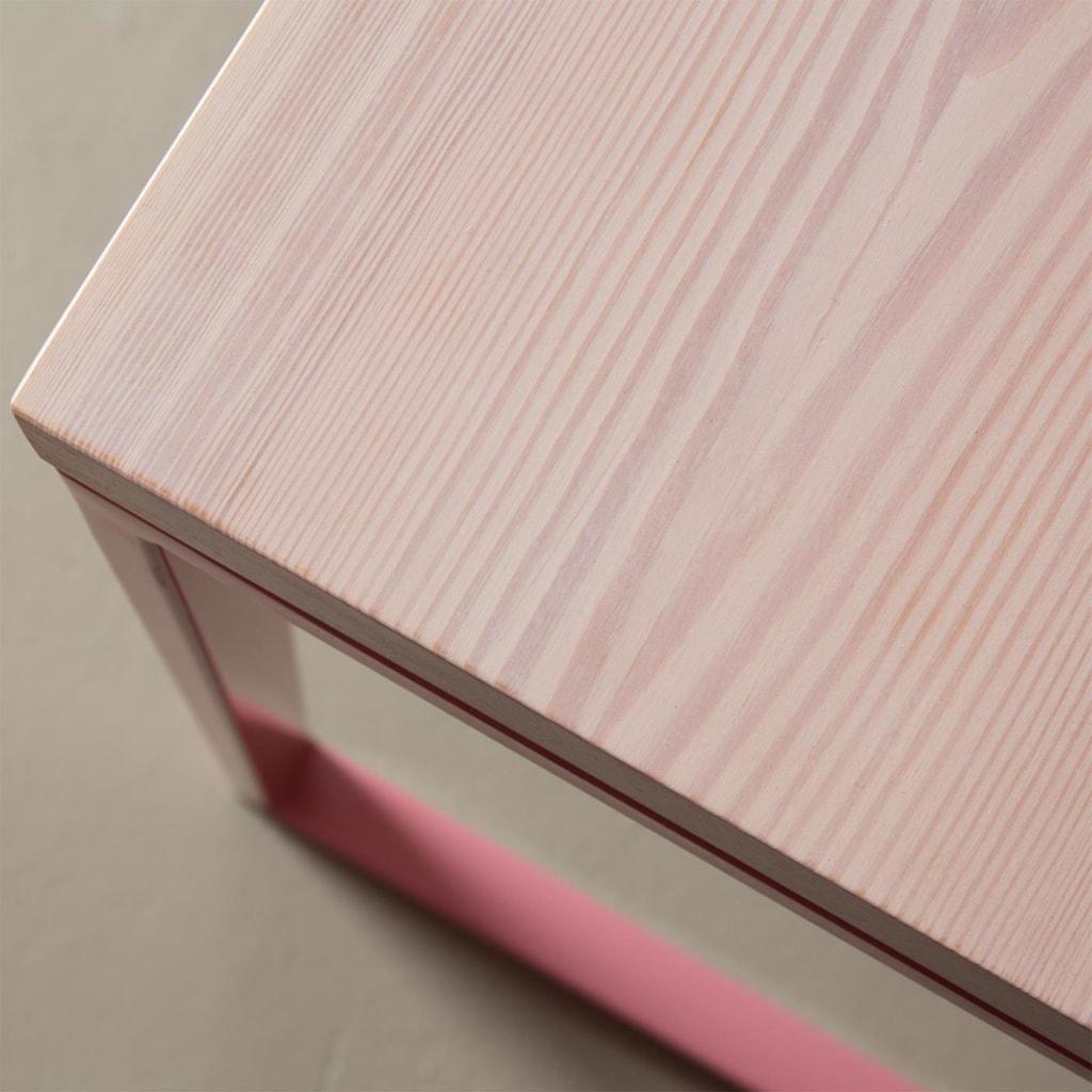 05 meerssen tisch esstisch bauholz holz stahl hellrosa rosa johannenlies