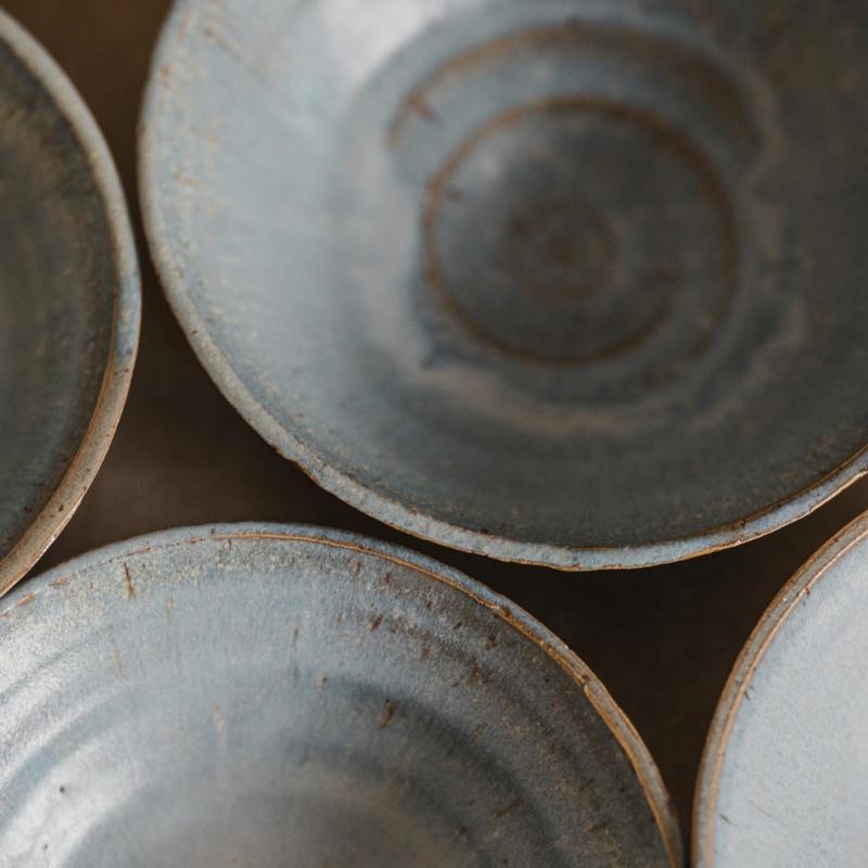 06 dining ritual vessel 1 keramik ton blau handgefertigt brsg