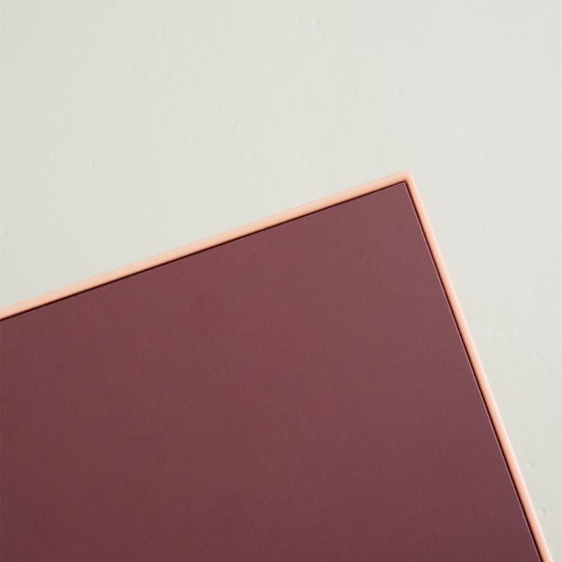 06 mrs kerkrade tisch esstisch linoleum baustahl stahl burgundy beigerot rot johanenlies