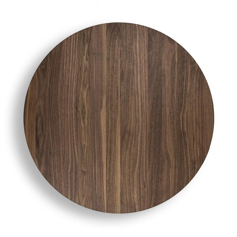 07 chronos beistelltisch tisch nussbaum holz schwarz stahl pulverbeschichtet joval