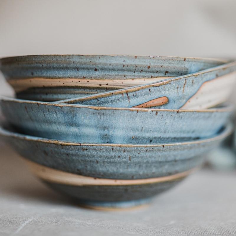 08 dining ritual vessel 1 keramik ton blau handgefertigt brsg