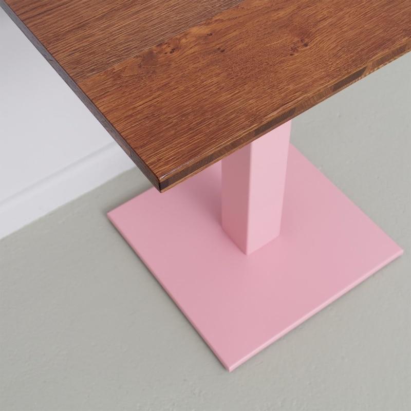 08 louis coffeetable bistrotisch tisch stehtisch eiche braun stahl hellrosa rosa johanenlies