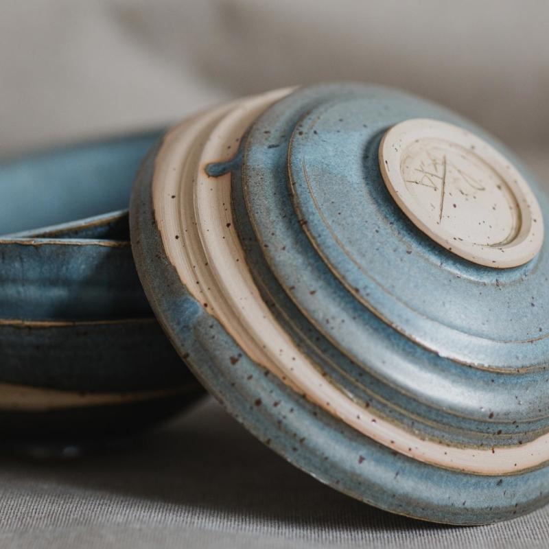 10 dining ritual vessel 1 keramik ton blau handgefertigt brsg