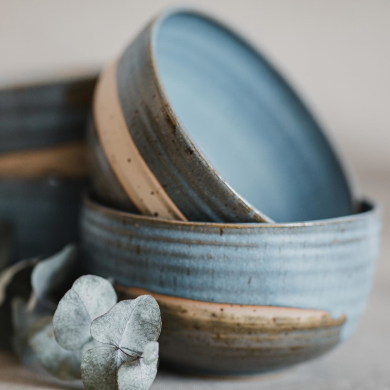 10 dining ritual vessel 2 keramik ton blau handgefertigt brsg