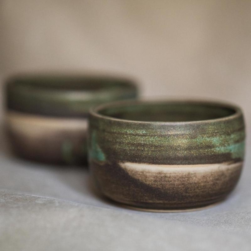 10 matcha bowl keramik ton blau handgefertigt brsg
