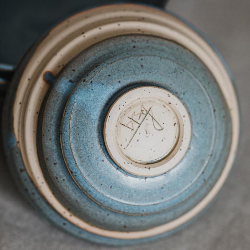 11 dining ritual vessel 1 keramik ton blau handgefertigt brsg