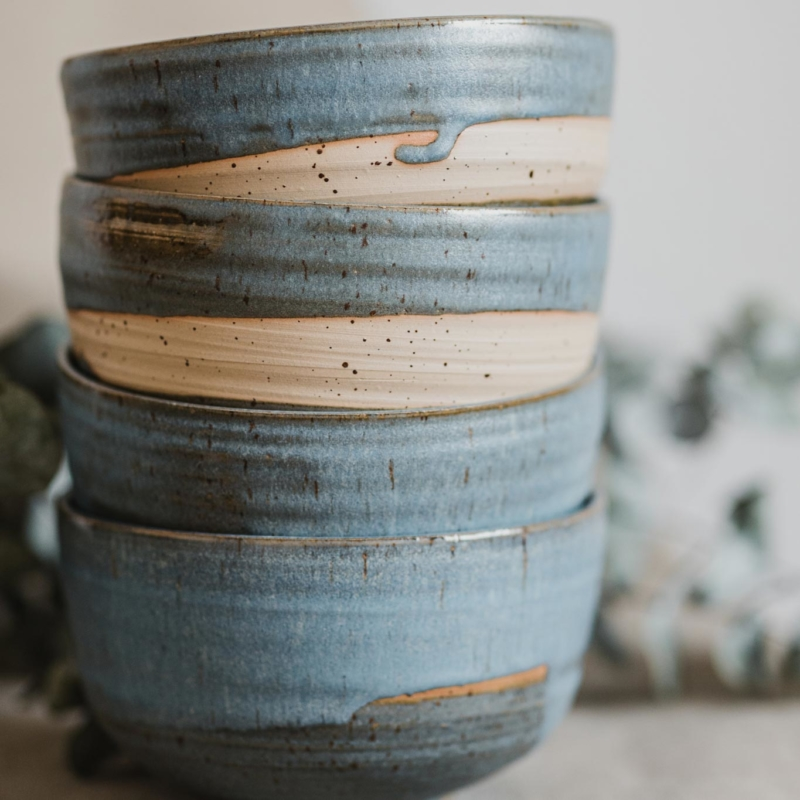 11 dining ritual vessel 2 keramik ton blau handgefertigt brsg