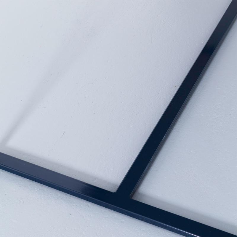 13 maastricht tisch esstisch bauholz holz stahl midnight nachtblau blau johanenlies