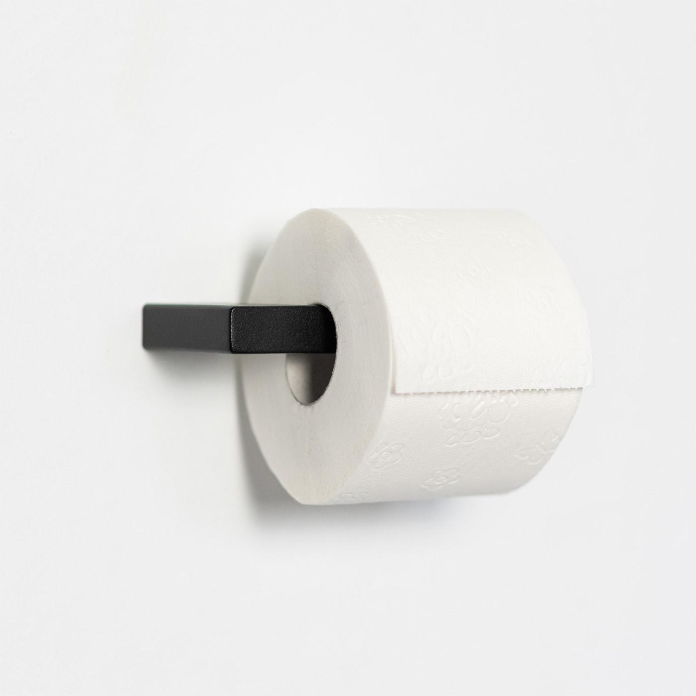 01 tuali toilettenpapierhalter klopapierhalter halter metall stahl stahlrohr schwarz metallbude