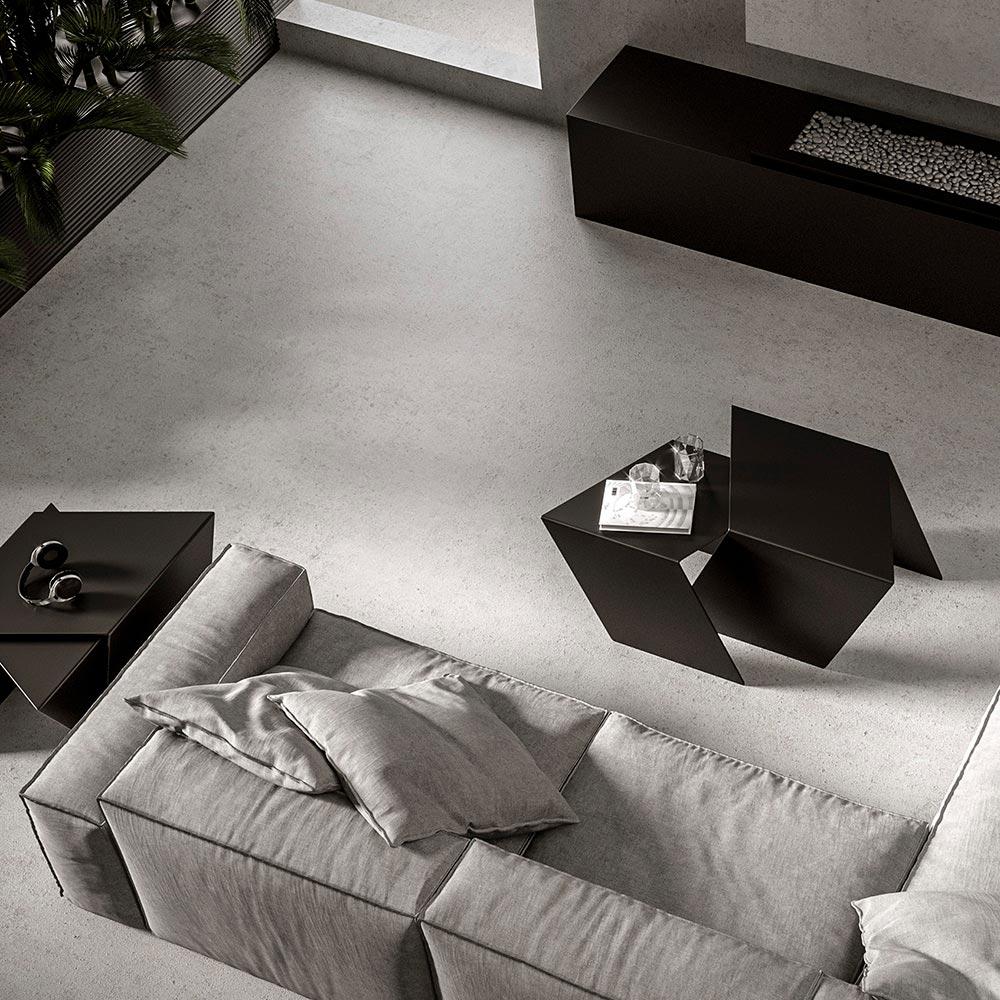 02 stalk coffeetable couchtisch beistelltisch stahl stahlblech schwarz kanten studio makuko