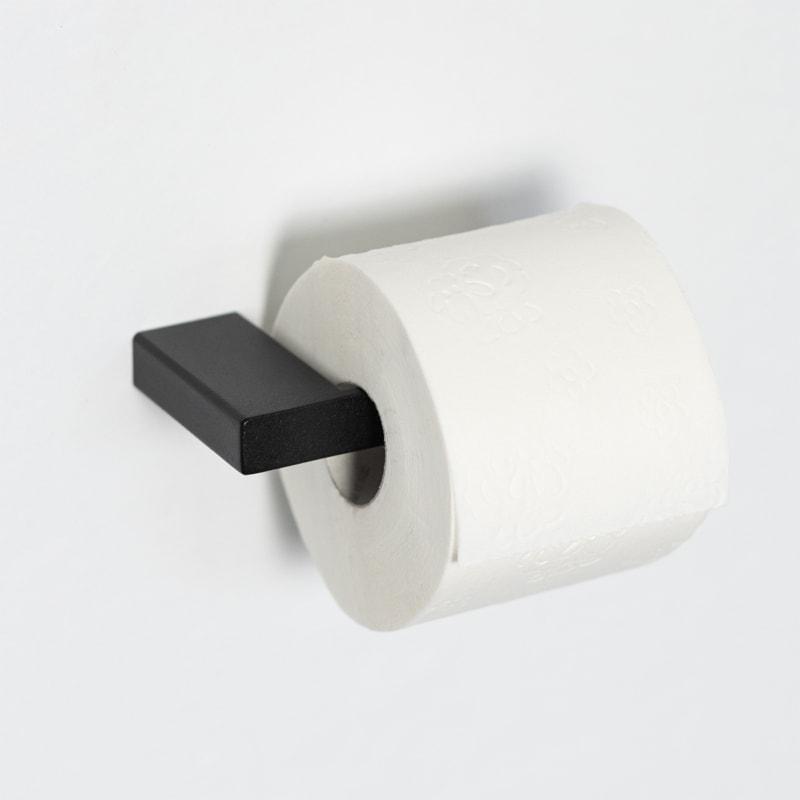 02 tuali toilettenpapierhalter klopapierhalter halter metall stahl stahlrohr schwarz metallbude