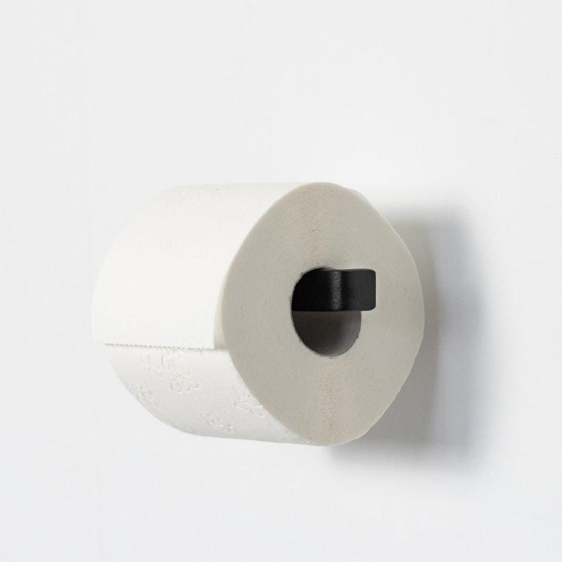 03 tuali toilettenpapierhalter klopapierhalter halter metall stahl stahlrohr schwarz metallbude