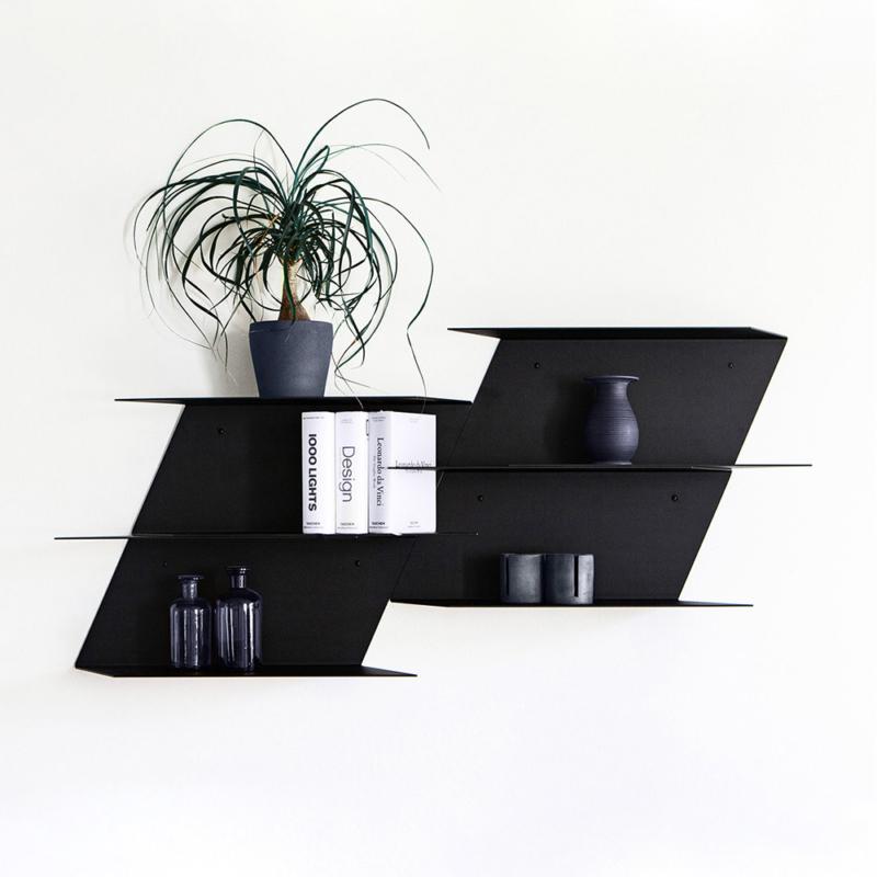 05 sampa regal aufbewahrung stahlblech stahl schwarz studio makuko