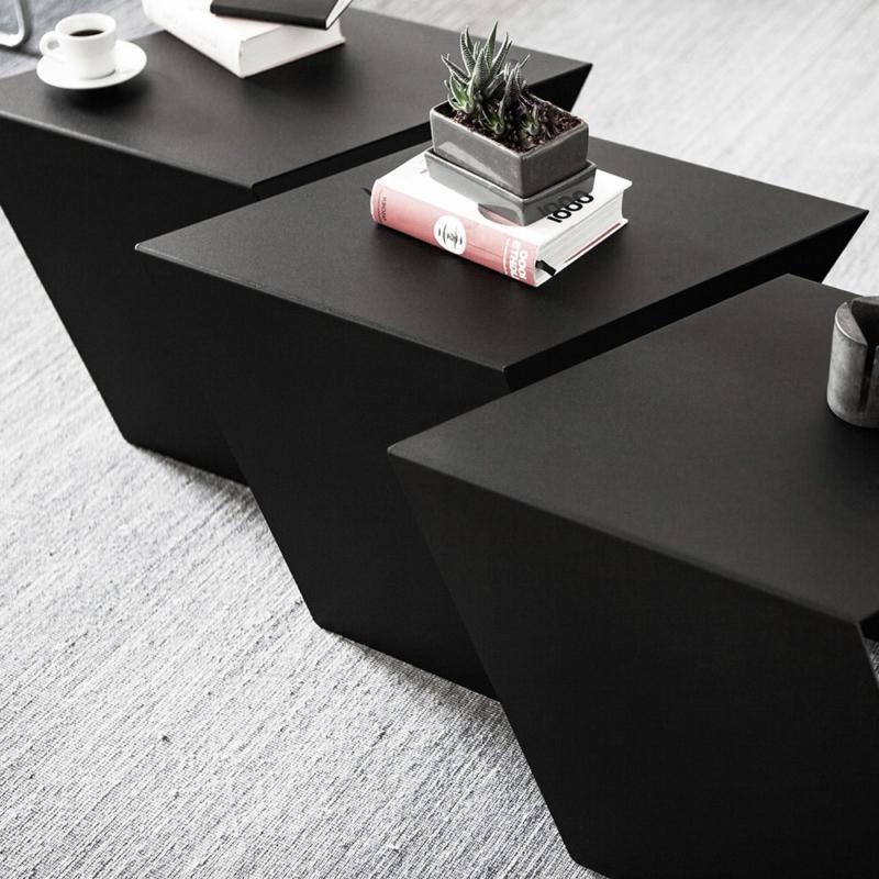 06 chevron beistelltisch stahl stahlblech schwarz kanten studio makuko