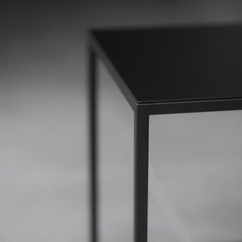10 solix beistelltisch tisch stahlrohr stahlblech stahl weiss schwarz metallbude