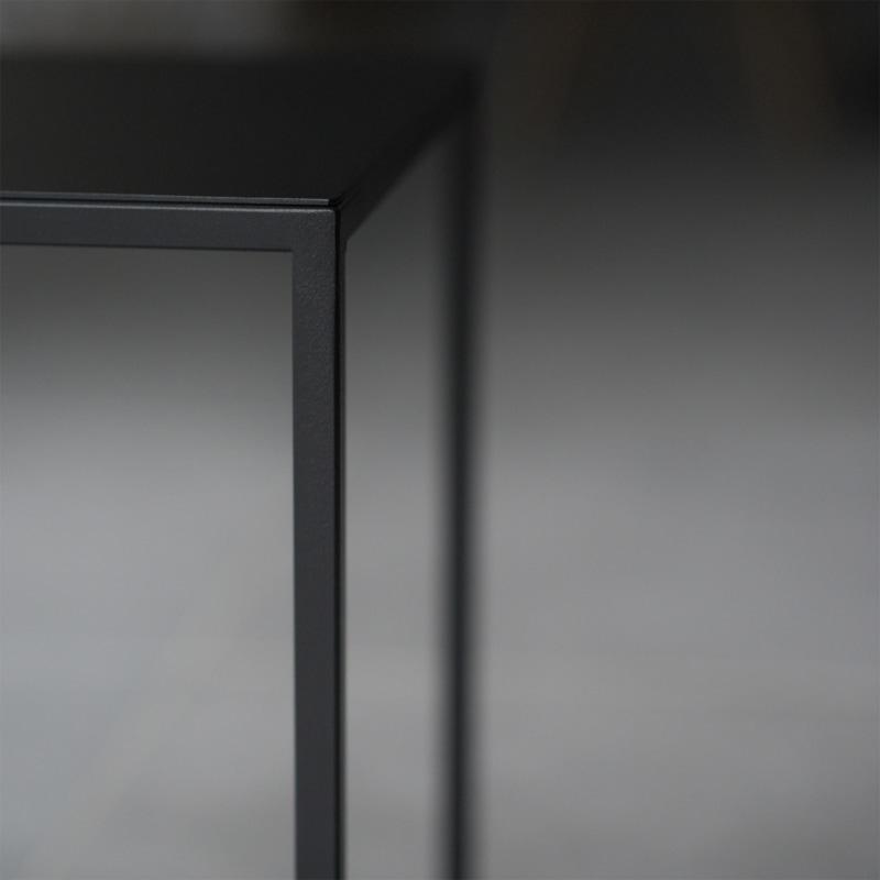 12 solix beistelltisch tisch stahlrohr stahlblech stahl weiss schwarz metallbude