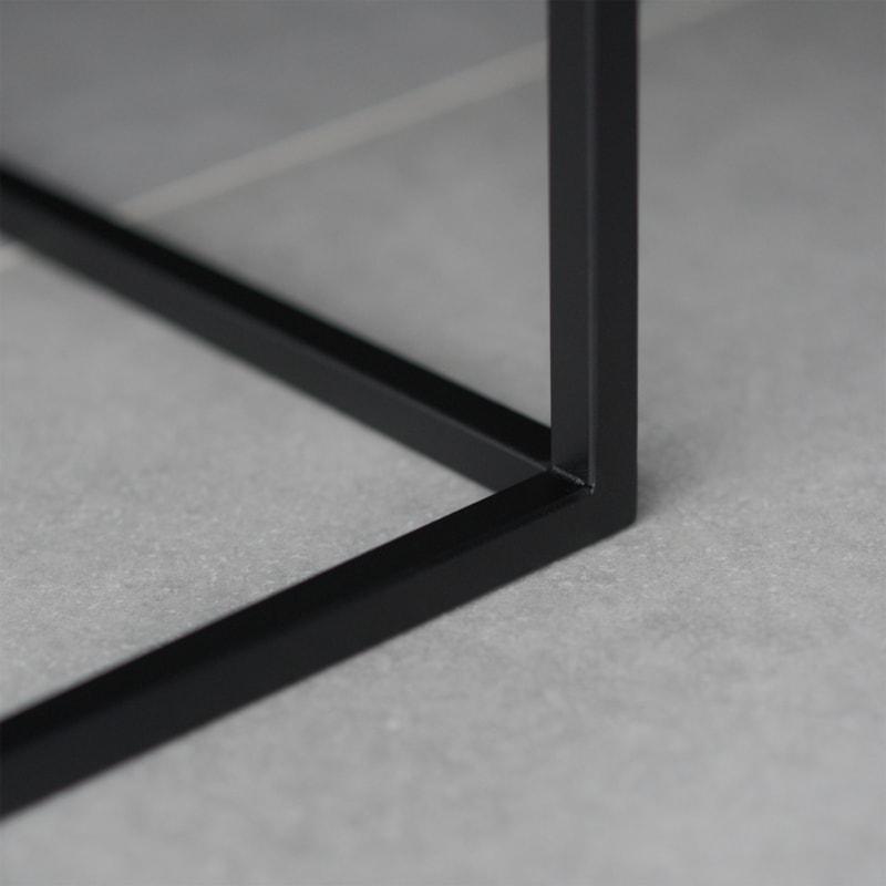 13 solix beistelltisch tisch stahlrohr stahlblech stahl weiss schwarz metallbude